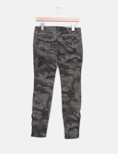 Jeans denim camuflaje