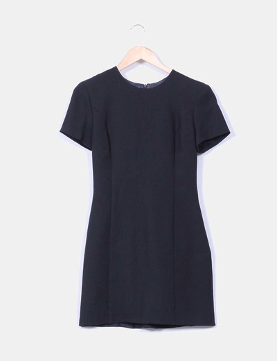 Vestido negro texturizado Unit