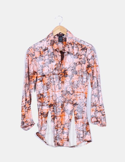 Camisa larga estampado texturizado