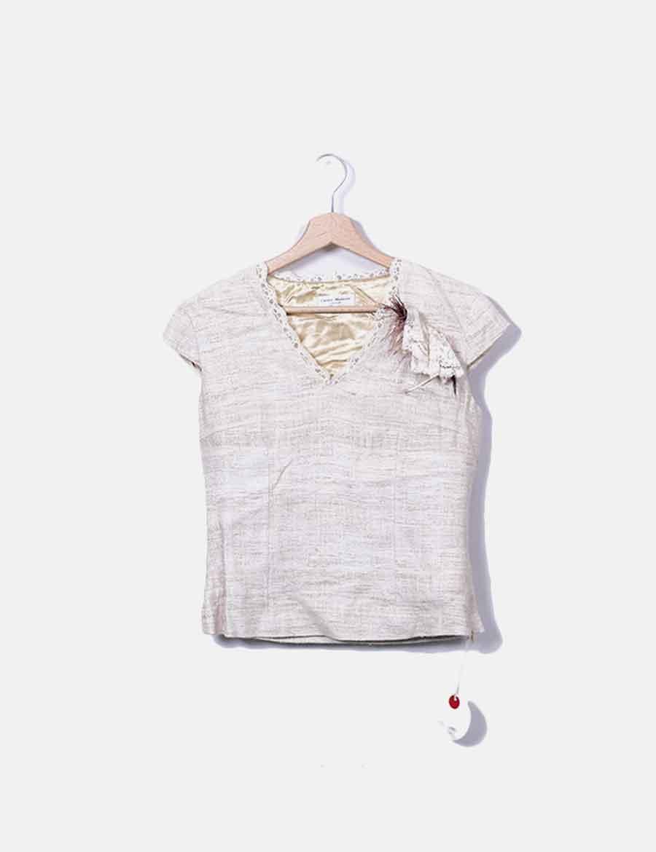 online store 9abdf 6f100 Tops Montero Carlos detalle mujer plumas online Top beige nqgTXX ...