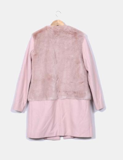 Rose 57 À Tissu Zara Micolet réduction Fourrure Manteau Fqp5xwf