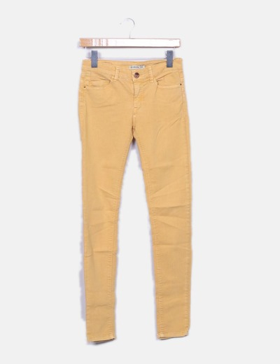 Yellow denim jeans Stradivarius