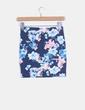 Mini falda azul floreada Pull&Bear