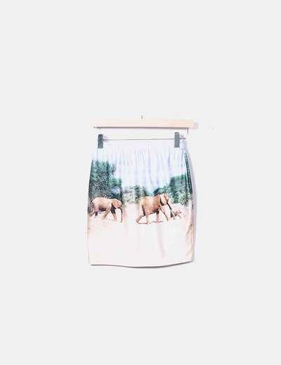 Mini-jupe imprimée Gugu&go