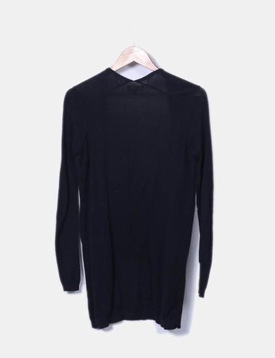 Chaqueta tricot negro