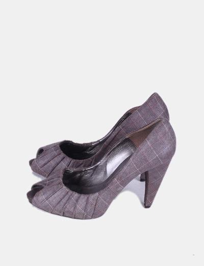Zapato cuadros peep toe XDYE