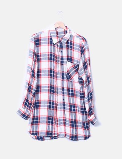 Vestido camisero de cuadros Shana