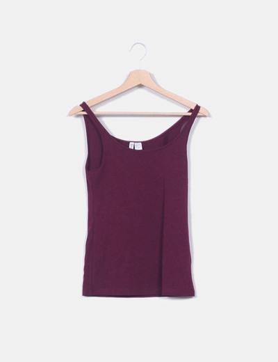 Camiseta burdeos básica H&M