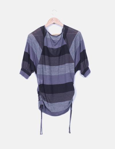 Sueter tricot rayas escote redondo