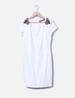 Robe blanche avec strass d'épaule midi Zara