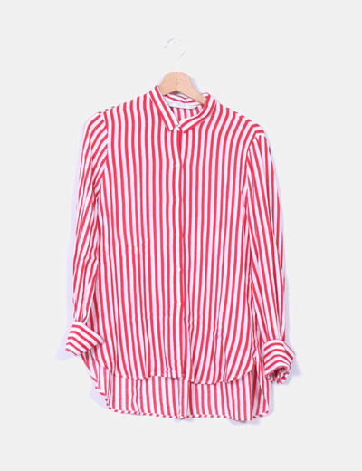 888e23514 Zara A Blanca Rayas Y Rojadescuento 73Micolet Camisa bf7gy6