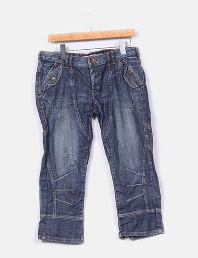 Pantalón pirata denim oscuro ONLY