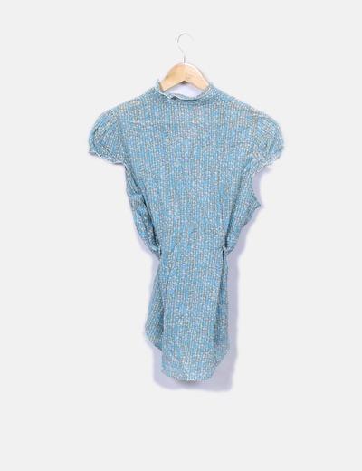 26a2cb0be Benetton Camisa de manga corta estampado turquesa (descuento 76%) - Micolet