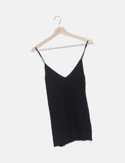Camiseta texturizada negra