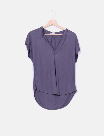 Top viscoso gris  marengo H&M