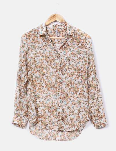 Camisa estampada floreada Stradivarius