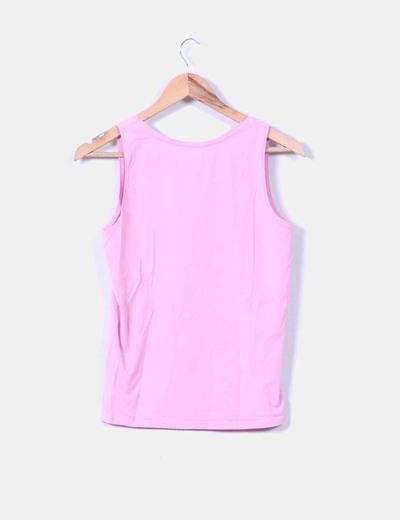Camiseta rosa tirante ancho