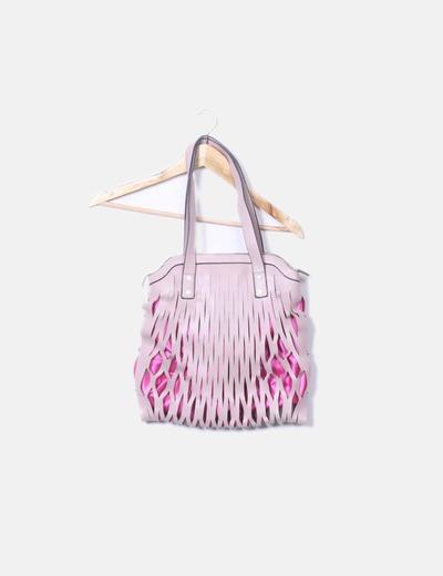 Bolso rosa texturizado