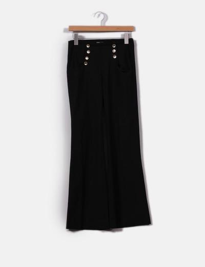 Pantalón negro campana Suiteblanco