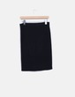 Falda midi negra canalé Esmara