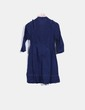 Vestido camisero azul marino Stradivarius