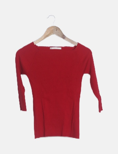 Camiseta roja canalé