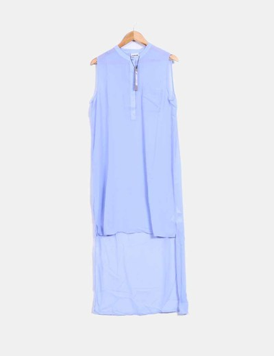 Camisola azul cielo corte asimétrico  Noisy May