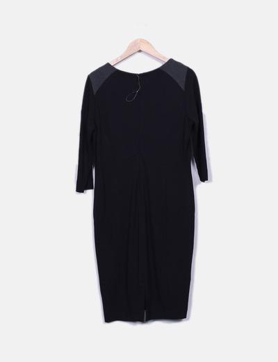 Vestido negro en mango