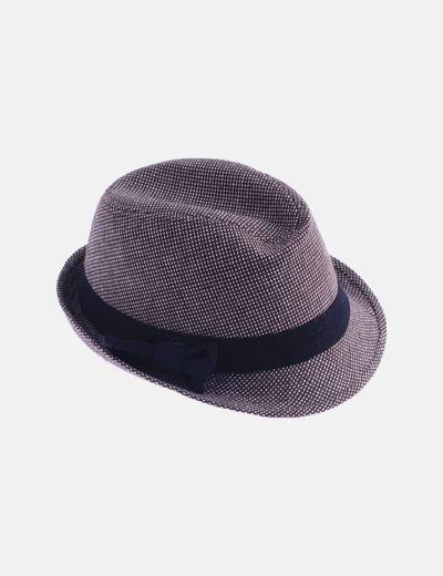 Sombrero marrón jaspeado