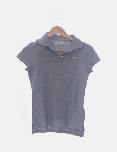 Polo manga corta gris