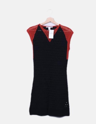 Vestido de malha bicolor Suiteblanco