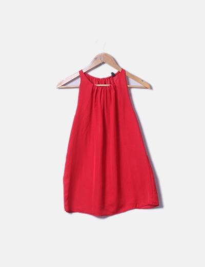 Blusa satén rojo