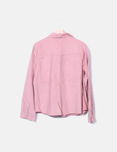 Camisa de pana rosa