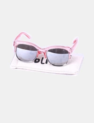 Calidad superior amplia selección 100% autenticado Gafas de sol montura rosa transparente y cristal espejo