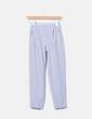 Pantalón chino gris rayas Bershka
