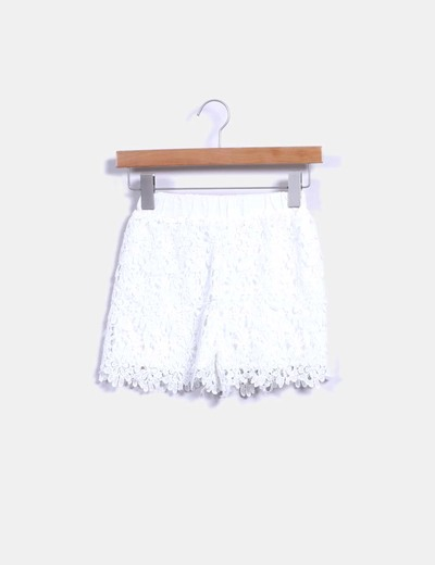 Short crochet blanco NoName