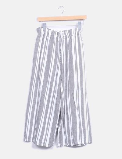 Pantalón culotte raya