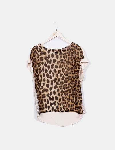 T-shirt de leopardo Zara