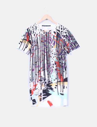 Zara Estampado Neopreno De 65 Rayas Efecto Vestido descuento 7wSqRr7