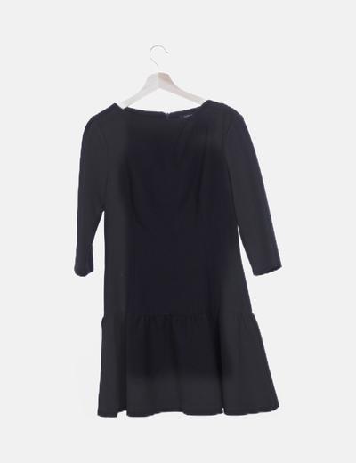 Vestido volantes negro