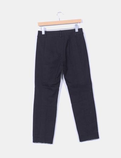 Pantalon combinado negro y estampado