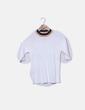 Camiseta tricot blanca cuello colores MIGUEL DE LUNA