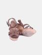 Sandalia marrón cuña de caucho ASH