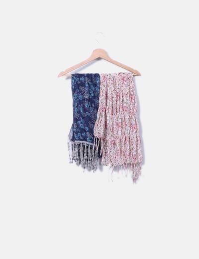 Pack 2 lenços estampado floral NoName