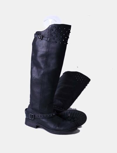 64faef6cbd9 ASH Botas altas cuero negro con tachas (descuento 32%) - Micolet