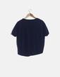 Camiseta azul marino tail hem Stradivarius