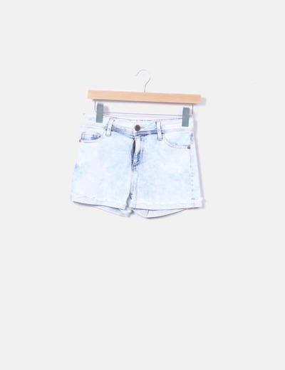 Shorts denim azul claro