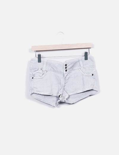 Shorts denim gris Bershka