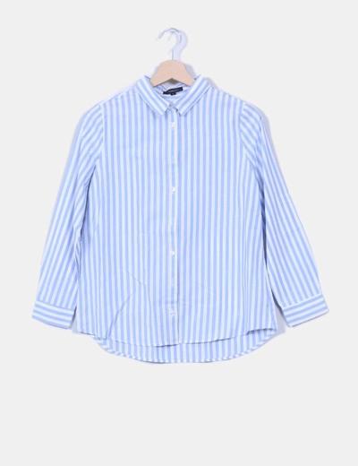 Camisa azul de rayas Haoduoyi