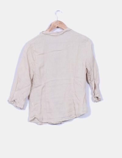 Blusa de lino beige